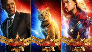Captain Marvel New Character Posters REVEALED: Goose the Cat Steals the Spotlight From Brie Larson, Jude Law, Samuel L Jackson and Rightly So! View Pics