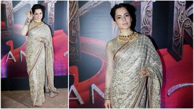 Kangana Ranaut's Recent Appearance at Manikarnika Music Launch Proves No One Can Nail a Saree As Well as Her - View Pics
