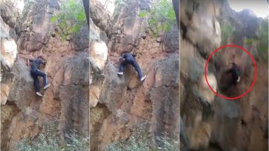 JNU Researcher Falls to Death While Rock Climbing at Delhi Campus, Video Goes Viral