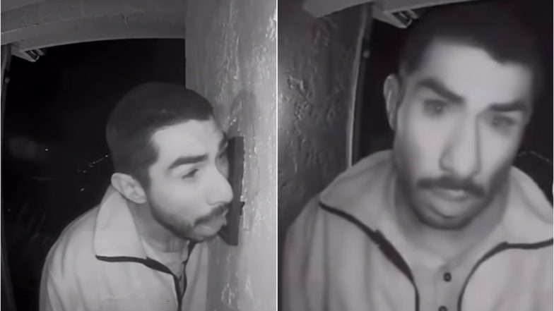 California Man Caught Licking Family's Doorbell For Three Hours in Security Camera (Video)