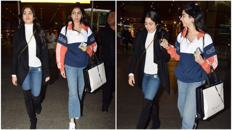 Janhvi Kapoor and Khushi Kapoor Return From Their Spanish Holiday and Their Airport Styling is On Point Like Always - View Pics