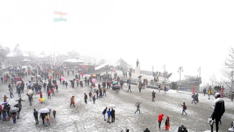 Shimla and Manali Receive Fresh Snowfall Yet Again; Tourists Celebrate