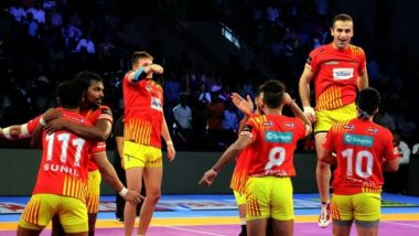 Gujarat Fortunegiants vs UP Yoddha, PKL 2018–19, Qualifier 2 Match Live Streaming and Telecast Details: When and Where to Watch Pro Kabaddi League Season 6 Match Online on Hotstar and TV?