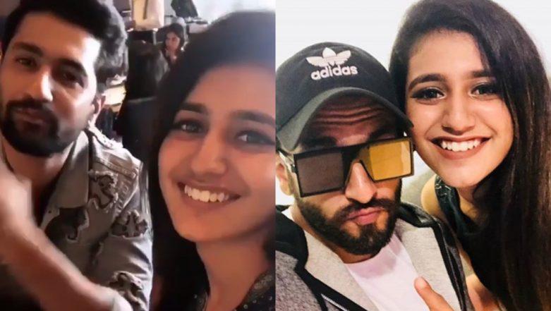 Wink Sensation Priya Prakash Varrier Chills with Takht Stars Ranveer Singh and Vicky Kaushal – Watch Video
