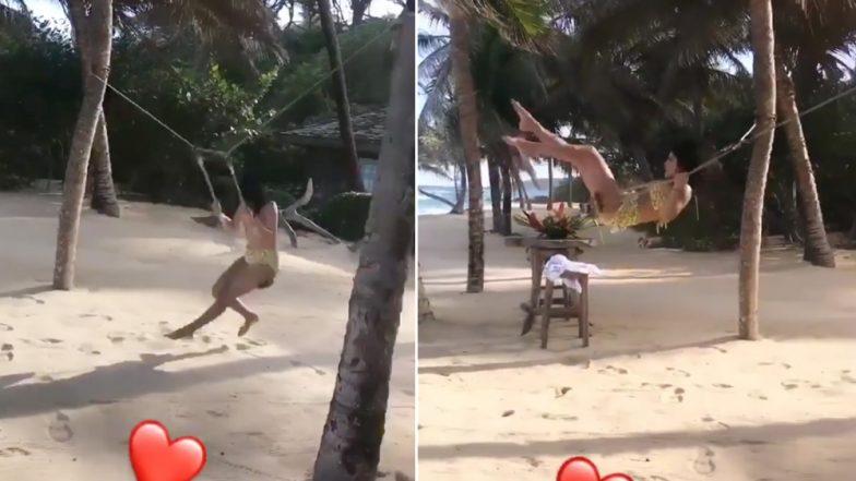 Priyanka Chopra Looks Sultry in a Hot Bikini on Her Caribbean Honeymoon With Hubby Nick Jonas (Watch Video)