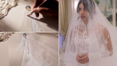 Loved Priyanka Chopra's Christian Wedding Gown? Here's How Ralph Lauren Designed Desi Girl's Mesmerizing Outfit (View Pics and Video)
