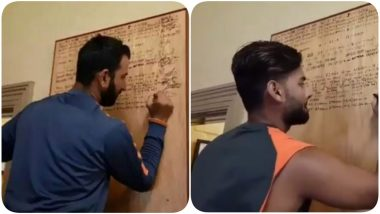 Cheteshwar Pujara and Rishabh Pant Sign Honours at the SCG After Conclusion of Day 3, Sydney Test (Watch Video)