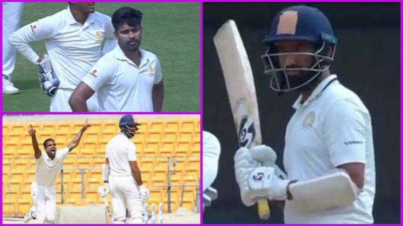 Cheteshwar Pujara Called 'Cheater' by Crowd, Refuses to Walk Despite Being Caught Behind Twice During Saurashtra vs Karnataka Ranji Trophy Semi-Final; Watch Video