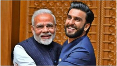 Ranveer Singh Hugs Narendra Modi! Gives a Sanjay Dutt Inspired 'Jaadoo Ki Jhappi' to Prime Minister, View Pic