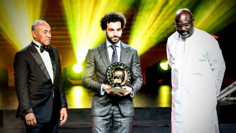 Mohamed Salah Voted African Footballer of the Year 2018 for the Second Time (See Pics & Video)
