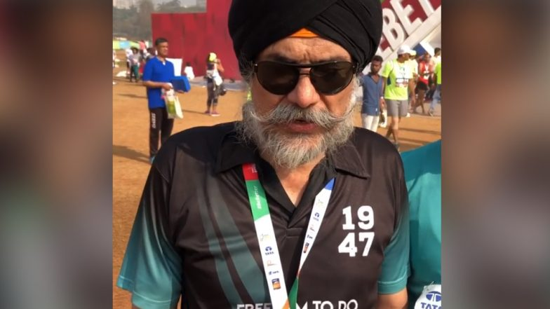 Tata Mumbai Marathon 2019: Visually Impaired Amarjeet Singh Chawla Successfully Completes His 101st Race (Watch Video)