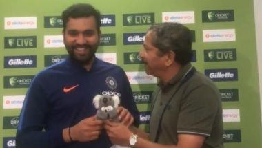 New Dad Rohit Sharma Gifted a Toy for Daughter Samaira By Indian Journalist; Hitman Elated with the Gesture (Watch Video)