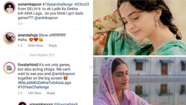 Sonam Kapoor Ahuja Takes #10YearChallenge but It's Her Hubby Anand's Comment That You Will Relate to – View Pics