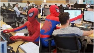Brazilian Banker Walks in Dressed As Spider-Man on His Last Day at Work; Watch Hilarious Video