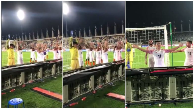 Sunil Chhetri & Co Perform Viking Clap After India's Win Over Thailand at 2019 AFC Asian Cup, Watch Video