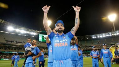 Virat Kohli & Co's Victory Lap After Winning Ind vs Aus 2019 Gillette ODI Series Will Give You Goosebumps (Watch Video)