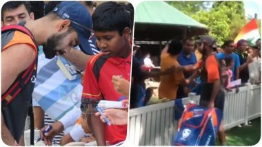 India vs Australia 2018-19, 4th Test: Virat Kohli, Cheteshwar Pujara Click Selfies & Sign Autographs for Young Fans After Practice Session (See Pics & Video)