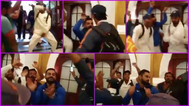 Team India's Celebration Featuring Virat Kohli's Nagin Dance With Bharat Army is Going Viral, Watch Video