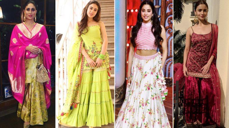 Lohri 2019: This Festive Season Take Some Fashion Inspiration from Kareena Kapoor Khan, Alia Bhatt and Sara Ali Khan For the Most Gorgeous Results - View Pics