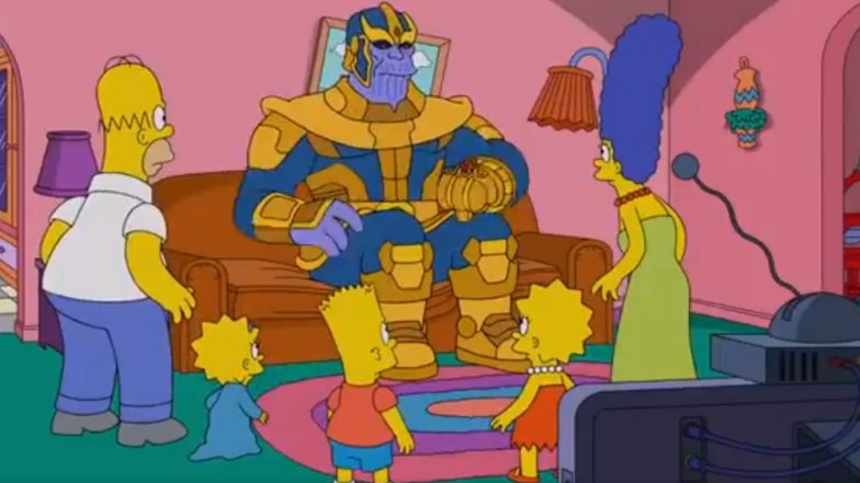 Avengers: Endgame - Thanos Makes His Way to the World of Simpsons and Yes, He Snaps His Fingers!