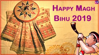Happy Magh Bihu 2019 Wishes & Greetings in Assamese: WhatsApp Stickers, Photo Messages & Quotes to Share This Bhogali Bihu