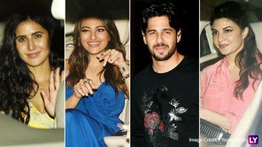 Sidharth Malhotra Birthday Bash: Katrina Kaif, Jacqueline Fernandez, Sonakshi Sinha and Tara Sutaria Attend The Gala Night - View Pics