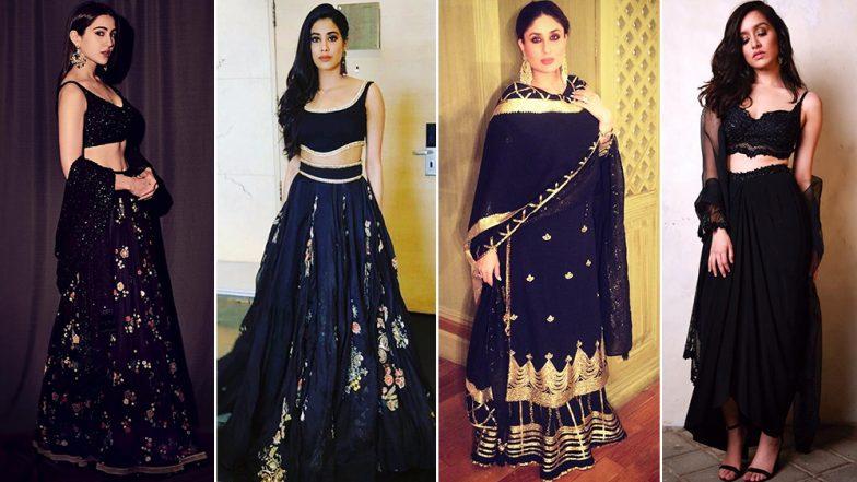 Makar Sankranti 2019: This Festive Season Let Sara Ali Khan, Kareena Kapoor Khan and Shraddha Kapoor Teach You How to Nail Black Outfits - View Pics