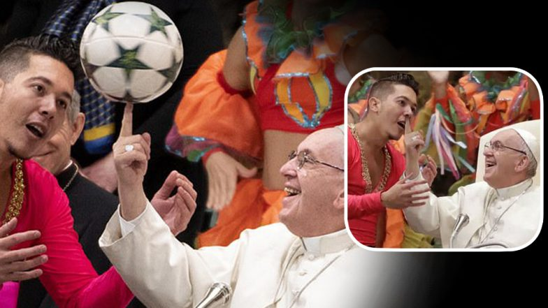 Pope Francis Spinning Football on Index Finger Gives Rise to Hilarious Memes on Social Media (View Funny Pics)