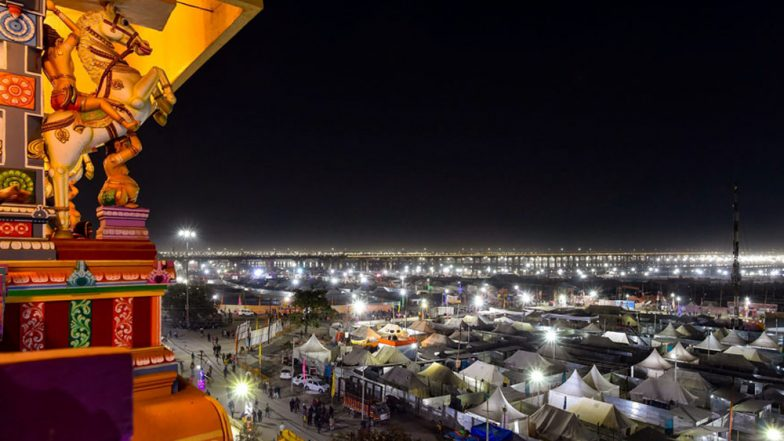 Kumbh Mela 2019: 300 Hi-Tech Huts With Modern Gadgets Set Up for Saints, Devotees and Visitors in Prayagraj; See Pics