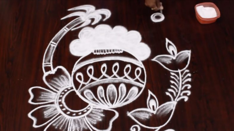 Easy Pongal 2019 Rangoli Designs: Quick and Simple Beautiful Kolam & Rangoli Patterns to Decorate Your House This Thai Pongal (Watch Videos)