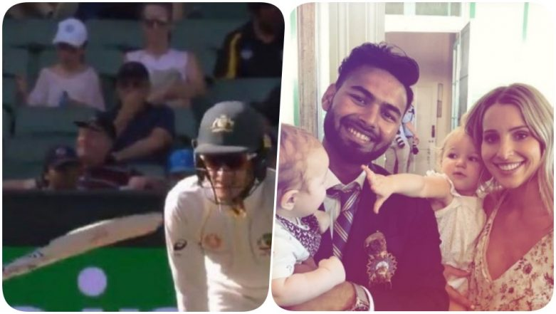 Icc Pokes Fun At Tim Paine S Babysitting Comment As Rishabh Pant Poses With Aussie Captain S Wife Babies Latestly