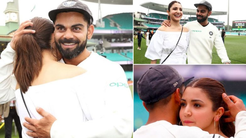 Virat Kohli Gets a Tight Hug From Proud Wifey Anushka Sharma as He Wins India vs Australia 2018-19 Series at Sydney (View Pics)