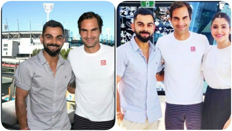 Anushka Sharma Gets Trolled After Australian Open Twitter Handle Tags Her as 'Legend' in Pic with Virat Kohli and Roger Federer!