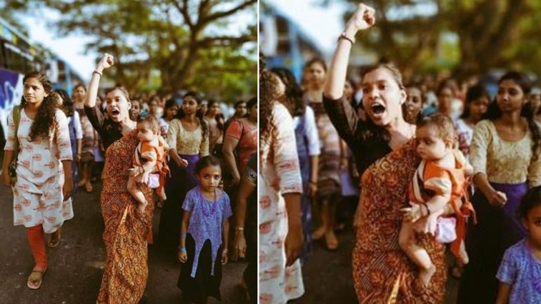 Athira, Kerala Woman Holding 6-Month-Old Baby at the Forefront of Women's Wall, Becomes a Powerful Symbol of the Protest