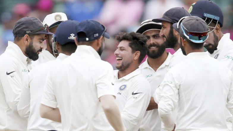 Kuldeep Yadav Snaps Maiden Fifer in Australia During Sydney Test; Shane Warne, Harbhajan Singh, Suresh Raina & Others Hail the Feat