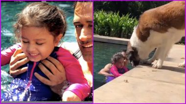 MS Dhoni and Daughter Ziva Celebrate New Year in a Pool, Watch Video