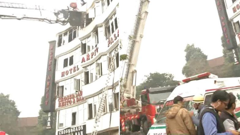 Delhi Fire: 17 Dead After Blaze Engulfs Hotel Arpit Palace in Karol Bagh, Rescue Operations Underway