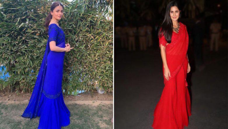 Alia Bhatt or Katrina Kaif - Who Nailed this Manish Malhotra Sharara Saree Better?