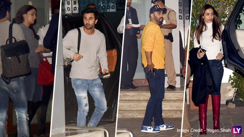Maliaka Arora-Arjun Kapoor, Alia Bhatt-Ranbir Kapoor: B-Town's Lovebirds Leave For Akash Ambani and Shloka Mehta's Wedding Bash in Switzerland - See Pics