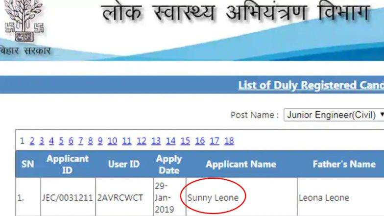 FIR to be Filed Against Bihar's 'Sunny Leone'? PHED Authorities Suggest It Could a Fake Application
