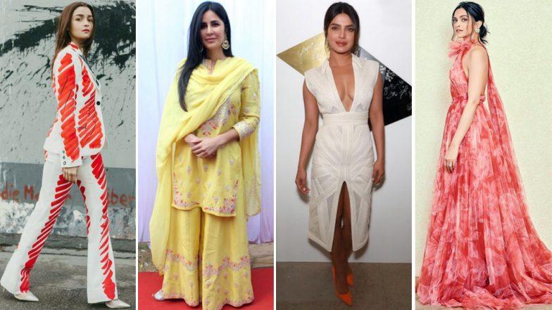 Deepika Padukone, Alia Bhatt and Katrina Kaif's Alluring Fashion Outings Get a Thumbs Up From Us - View Pics