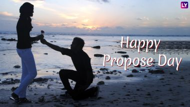 Propose Day 2019 Wishes on Second Day of Valentine Week: WhatsApp Stickers, Romantic GIF Image Messages, Quotes & SMS to Send Happy Propose Day Greetings
