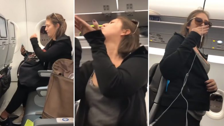 WATCH VIRAL VIDEO: Drunk Passenger Kicked Out of Flight for Spitting on Child, Because She Didn't Want to Sit Next to a 'F*****g 3-Year-Old'