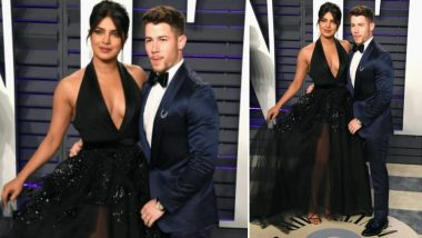 Vanity Fair Oscars After-Party: Priyanka Chopra Casts a Black Spell as She Attends the Event With Beau Nick Jonas - View Pics