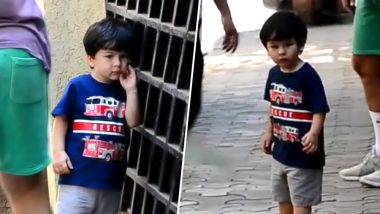 How Cute! Taimur Ali Khan Stops and Poses for The Paparazzi Before He Leaves With Saif - Watch Video