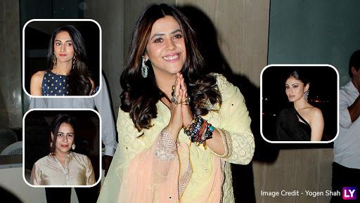 Mouni Roy, Erica Fernandes, Mona Singh, Surbhi Jyoti and Others Attend Ekta Kapoor's Baby Ravie's Naming Ceremony – View Pics