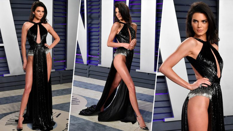 Kendall Jenner Ditches her Underwear as She Flaunts Every Inch of Her Toned Legs at Vanity Fair After Party Appearance