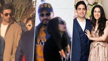 Ranbir Kapoor-Alia Bhatt, Arjun Kapoor-Malaika Arora: Celebs Arrive at Akash Ambani-Shloka Mehta's Pre-Wedding Celebration (See Pics)