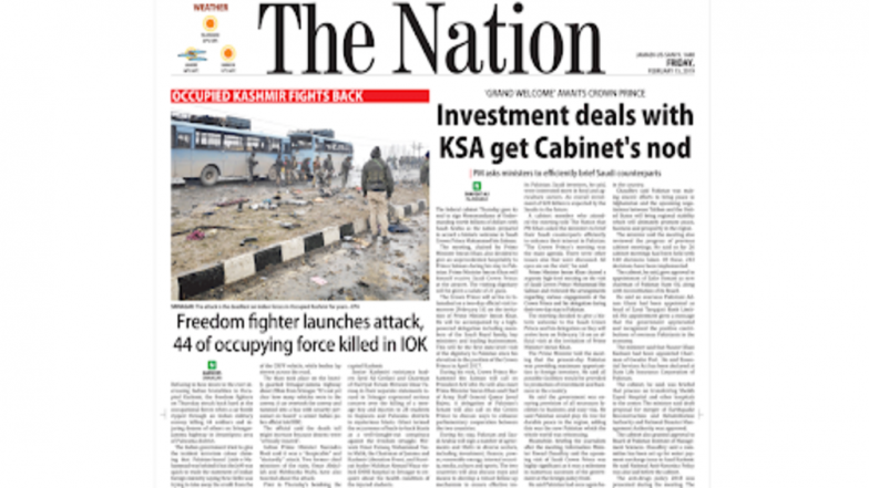 Pakistan Media Hails JeM Terrorist As 'Freedom Fighter