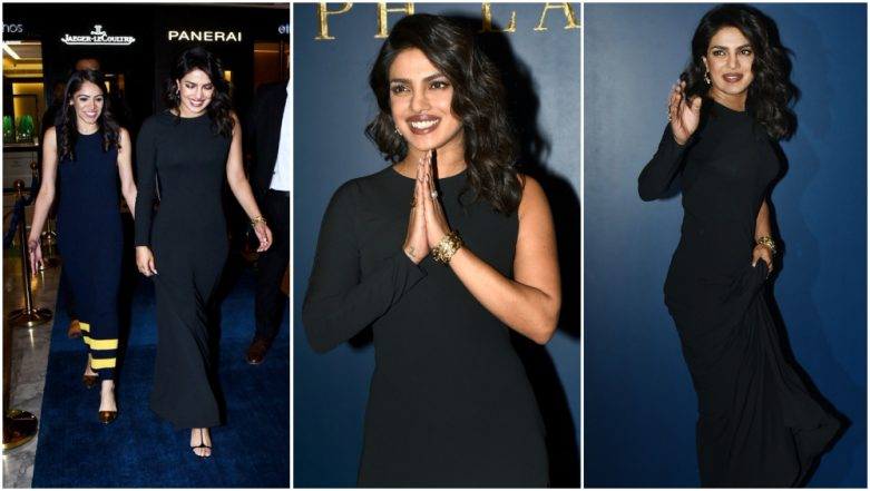 Priyanka Chopra Looks Gorgeous In A Black Gown At Ralph Lauren Store Launch In Delhi - See Pics!